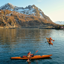 kayaks-in-the-harbour-of-hamn-in-senja